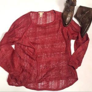 Sundance Open Knit Linen Sweater